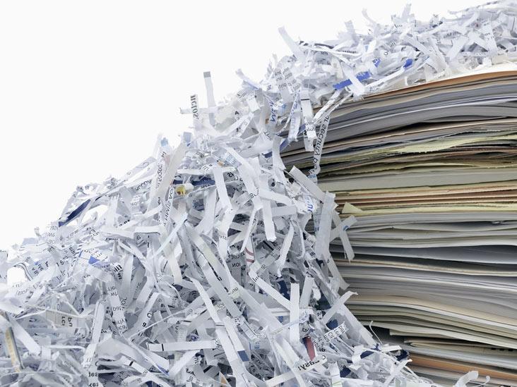 ضایعات کاغذ پرونده ها
